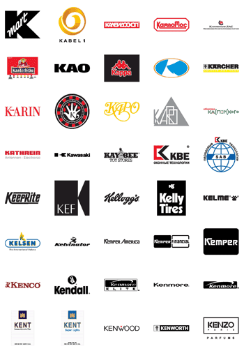 Free Vector Logos: Famous Company Logos and Trademarks – Letter K ...