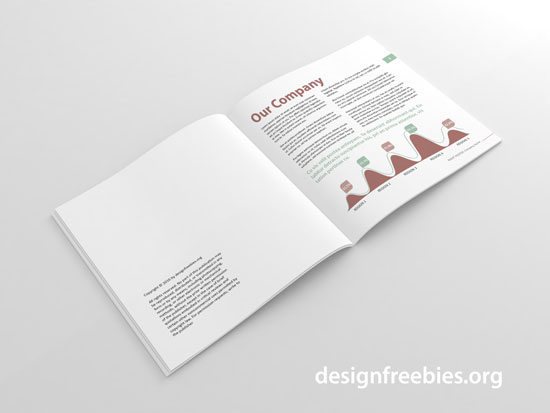 Free soft and clean square indesign brochure template for Indesign free brochure templates